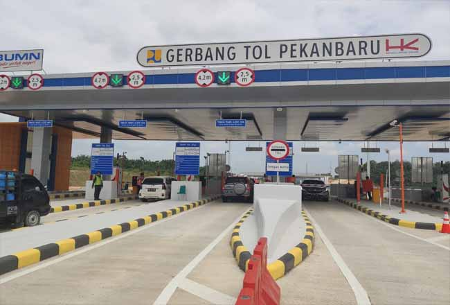 Tol Pekanbaru-Dumai akan diresmikan Presiden Jokowi Jumat (21/2/2020).