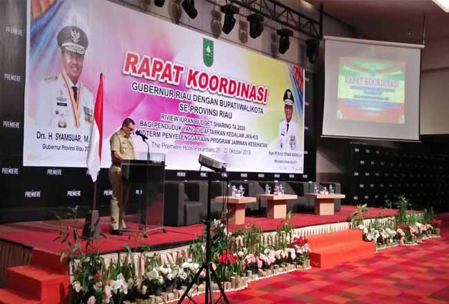 Wagubri Edy Natar Nasution saat memberikan kata sambutan.