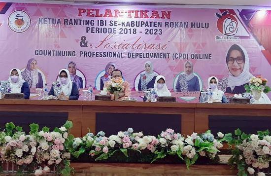 Pelantikan 26 ketua ranting IBI kecamatan se-Kabupaten Rohul periode 2018-2023.