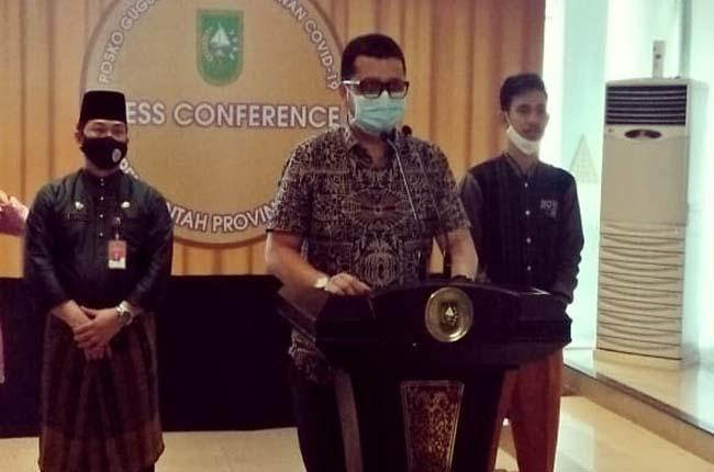 Juru Bicara (Jubir) penanganan covid-19 Riau, dr Indra Yovi