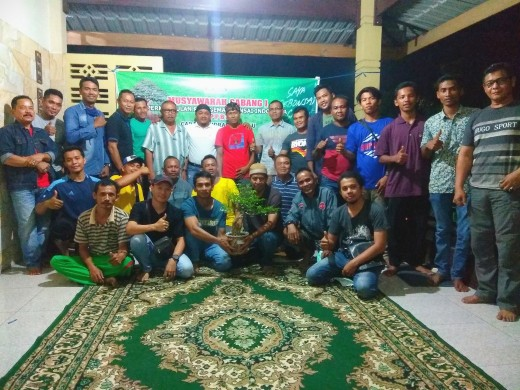 PPBI Cabang Indragiri Hulu foto bersama usai Gelar Muscab I dan pemilihan ketua PPBI periode 2019-2023.