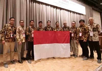 Para pekerja muda PT Pertamina (Persero) Refinery Unit (RU) II yang presentasikan inovasi bidang perbaikan berkelanjutan pada ajang International Convention on Quality Control Circle (ICQCC) 2019 di Tokyo, Jepang.