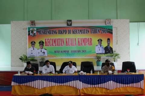 Bupati Pelalawan, HM Harris membuka pelaksanaan Musrenbang Tingkat Kecamatan, Kabupaten Pelalawan.