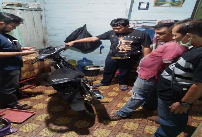 Barang bukti sepeda motor yang berhasil diamankan polisi.