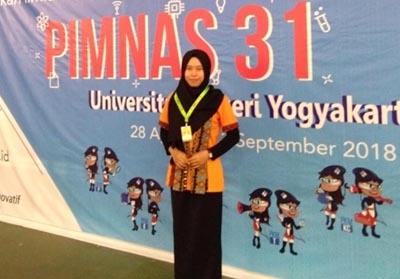 Hikmatun Nazila lolos seleksi Proposal Kreatifitas Mahasiswa (PKM) dan menjadi peserta Pekan Ilmiah Mahasiswa Nasional (PIMNAS)