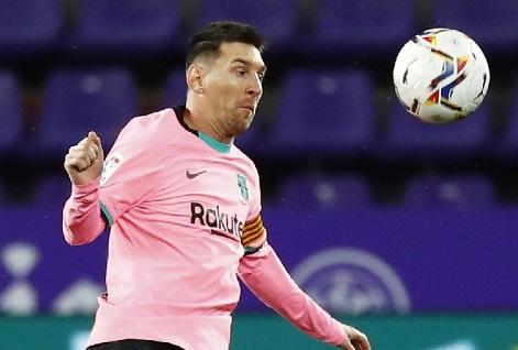 Pemain Barcelona Lionel Messi. REUTERS/Juan Medina
