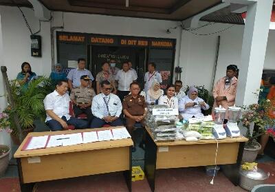 Sejumlah barang bukti Narkoba yang diamankan Polda Riau.