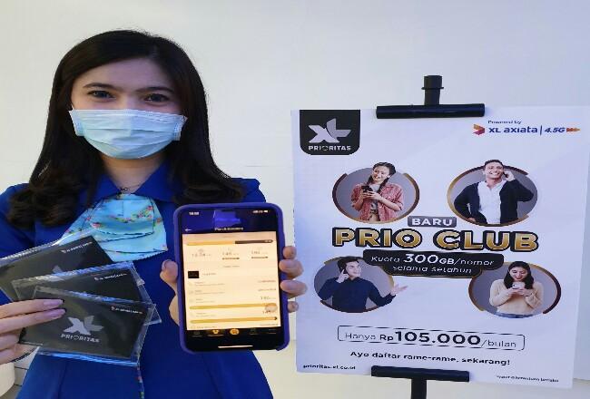 """Program """"PRIO Club"""", yang memberikan manfaat berupa kuota data hingga 300 GB untuk sepanjang tahun dengan harga mulai Rp 105 ribu."""