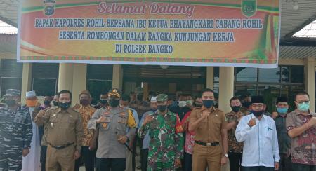 Foto bersama saat Kapolres Rohil, AKBP Nurhadi Ismanto SH SIk melakukan silaturahmi sekaligus tatap muka bersama tokoh masyarakat.