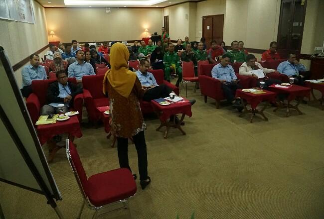 Seminar K3 yang digelar PT Riau Andalan Pulp and Paper (RAPP) bersempena Bulan K3 Nasional, Kamis (23/01) di Hotel Unigraha, Pangkalan Kerinci, Pelalawan, Riau.