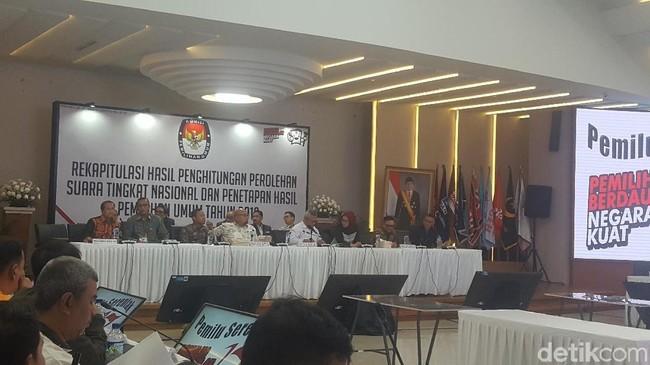 Pleno terbuka penetapan rekapitulasi nasional Pemilu 2019. FOTO: Zunita AP/detikcom