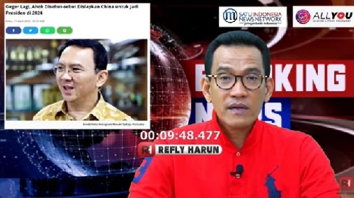 Refly Harun soal isu Ahok diajukan untuk Pilpres 2024 (YouTube/ReflyHarun),