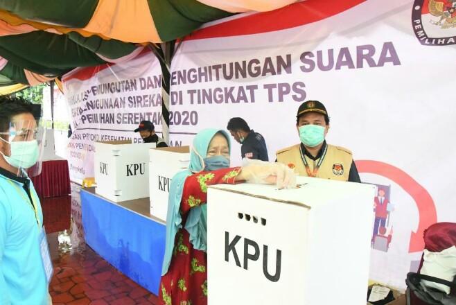 Simulasi pemungutan dan perhitungan suara yang digelar KPU Bengkalis.