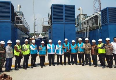 Peresmian Pembangkit Listrik Tenaga Mesin Gas (PLTMG) dengan kapasitas 25 MW.