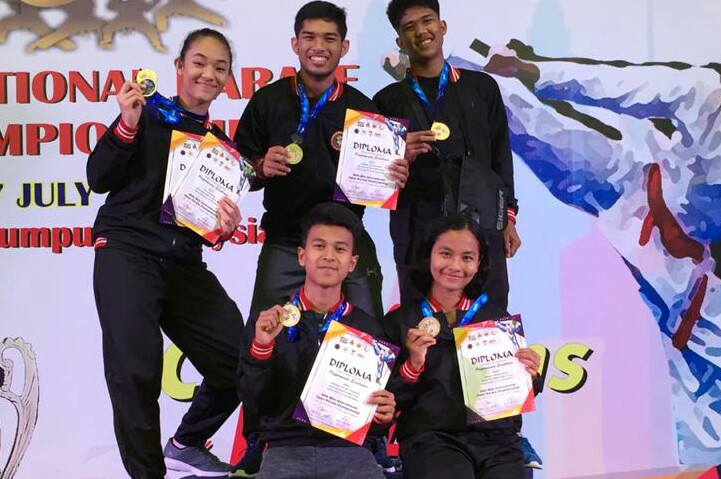Lima atlet PPLAMD berhasil meraih enam medali pada20th Milo International Karate Championship 2019 di Kuala Lumpur, Malaysia, 5-7 Juli 2019.