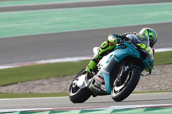 Valentino Rossi saat sesi tes Qatar jelang MotoGP 2021(David Goldman)