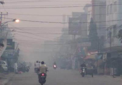Kabut asap di Inhil.