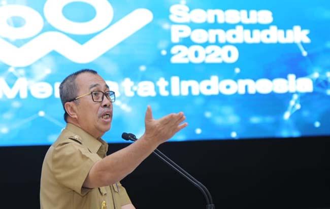 Gubernur Riau (Gubri) Syamsuar resmi mencanangkan Sensus Penduduk Online di tahun 2020.