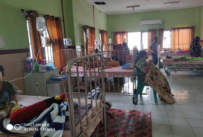 Pasien DBD dirawat di Rumah Sakit Daerah (RSUD) dr RM Pratomo Bagansiapiapi.