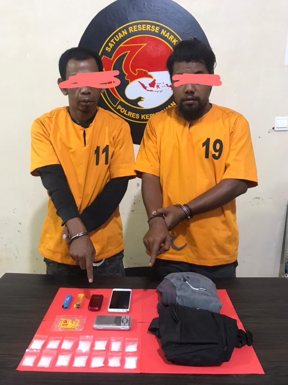 Dua pelaku pengedar sabu-sabu di Selatpanjang berhasil diamankan Satresnarkoba Polres Kepulauan Meranti