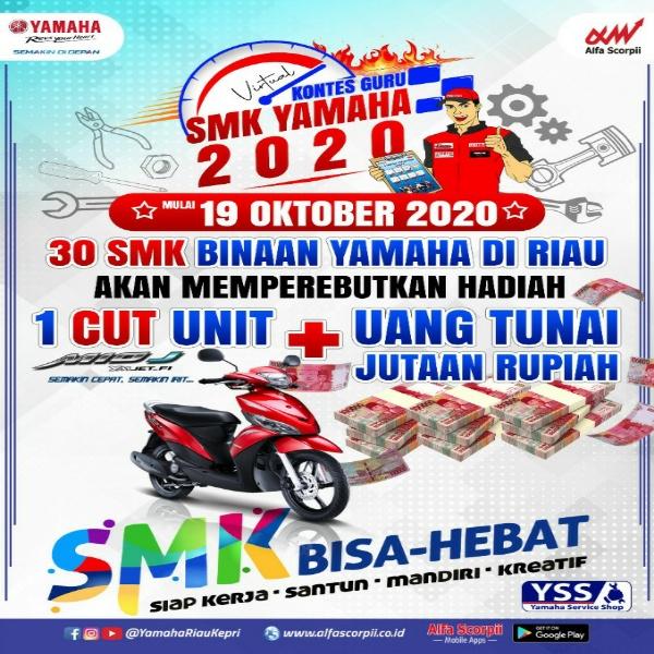 Kontes Guru Online 2020 untuk guru SMK binaan Yamaha.
