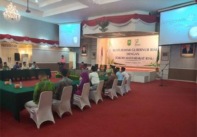 Silaturahmi Gubernur Riau dan Tokoh Masyarakat Riau.