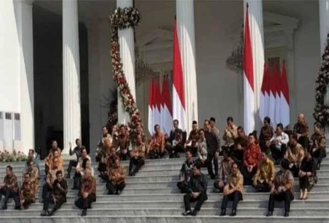 Presiden Jokowi umumkan Kabinet Indonesia Maju.