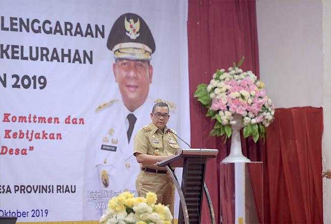 Rapat Kerja Urusan Penyelenggaraan Pemerintah Desa dan Kelurahan Provinsi Riau Tahun 2019.