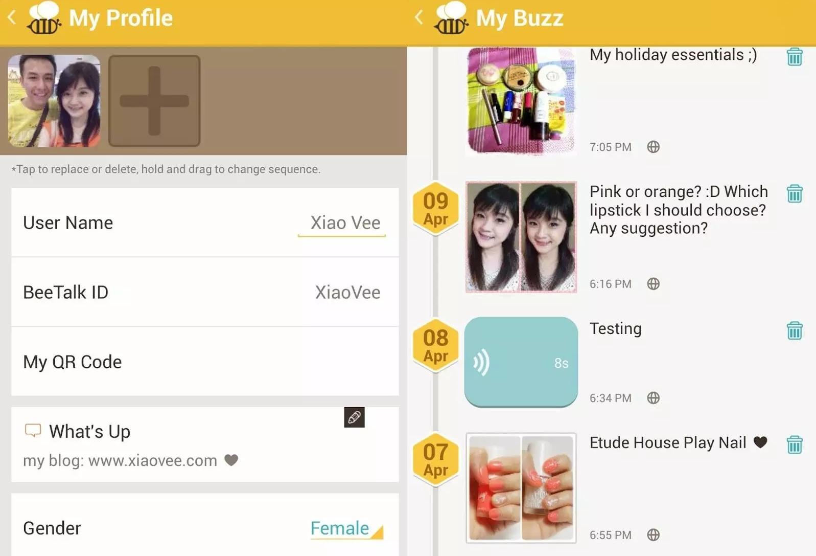 Media sosial Bee Talks milik Athiwat.