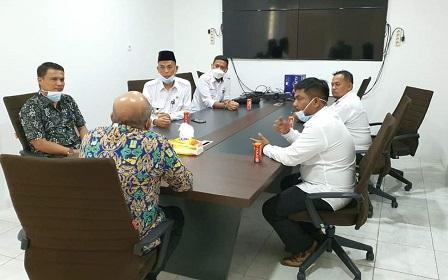 Walikota dan Wakil Walikota Dumai, H. Paisal-Amris melakukan pertemuan dengan Kepala BBKSDA Provinsi Riau, di Pekanbaru, Rabu, (3/3/2021).