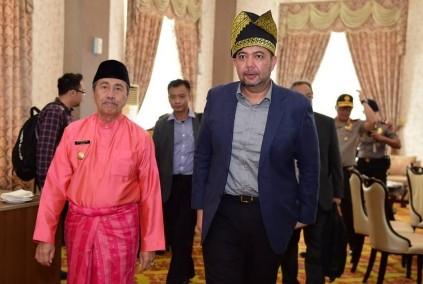 Gubernur Riau Syamsuar sambut kedatangan Wakil Menteri Luar Negeri (Menlu) Malaysia Datuk Wira Marzuki bin Yahya.