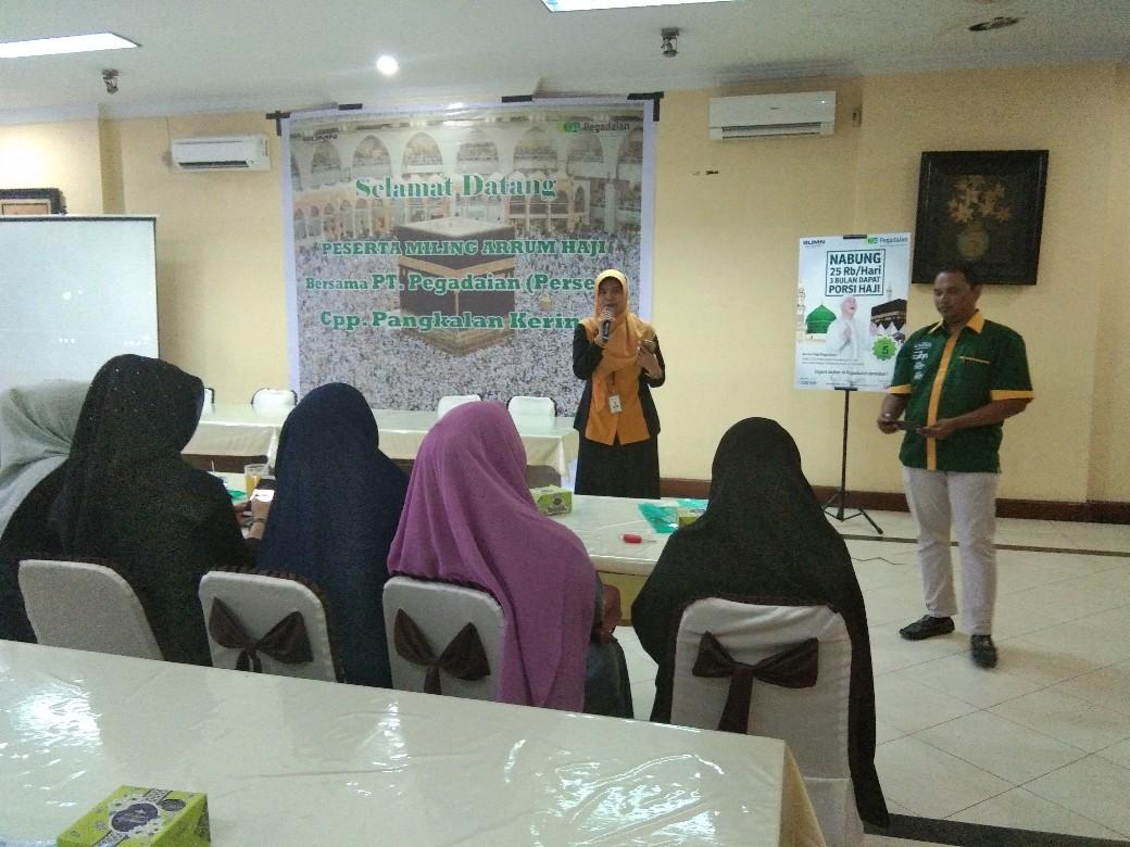 Pertemuan mitra dakwah dalam rangka literasi keuangan syariah di Pangkalankerinci, Kamis (7/11/2019).