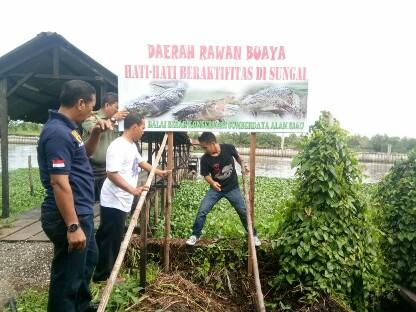 Plang Imbauan yang dipasang BBKSDA Riau