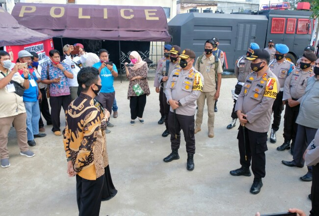 Kapolda Riau mengunjungi Inhu dan Kuansing untuk meninjau persiapan Pilkada.