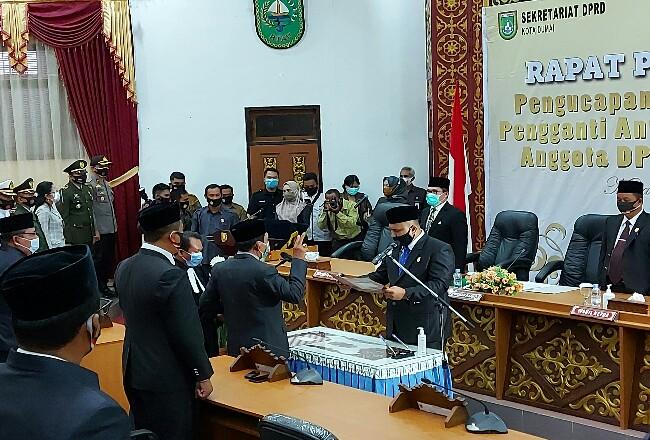 Ketua DPRD Dumai Agus Purwanto pimpin Paripurna PAW Anggota DPRD Dumai.