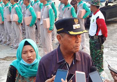 Wabub Inhil H Syamsuddin Uti usai memberikan motivasi kepada Capaska tahun 2019.
