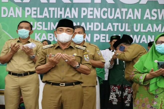 Pembukaan  Rapat Kerja Cabang (Rakercab) Muslimat Nahdhatul Ulama (NU) Kabupaten Pelalawan.