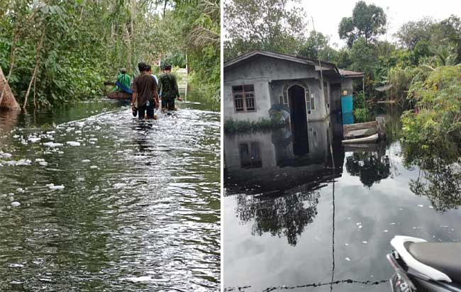 Banjir di Desa Dedap.