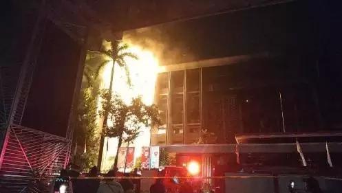 Kebakaran gedung Kejagung.