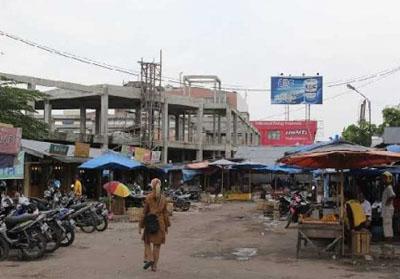 Pasar Cik Puan yang masih terbengkalai.