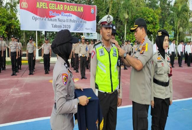 Apel pasukan dalam rangka Operasi Aman Nusa II Muara Takus Penanganan Covid-19 Tahun 2020.