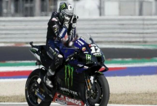 Maverick Vinales menempati peringkat ketiga di klasemen pembalap MotoGP 2020. Foto: CNNIndonesia