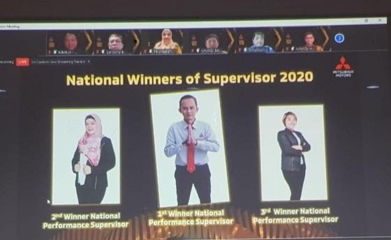 Adek Siti Rahmadani sabet juara 3 sales supervisor di Mitsubishi National Contest 2020