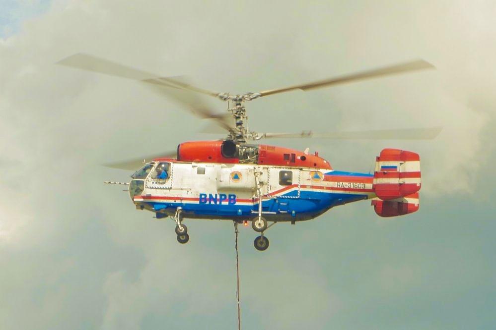 Helikopter water bombing yang diperbantukan BNPB di Riau akan ditarik dan dikembalikan ke negara asalnya.