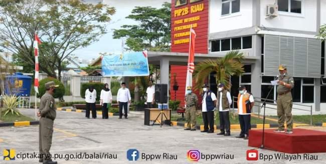 Apel Siaga Satgas Bencana, Senin (26/10/2020). Foto IST