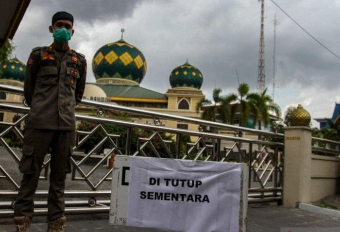 Masjid Agung Ar-Rahman Pekanbaru Ditutup Sementara