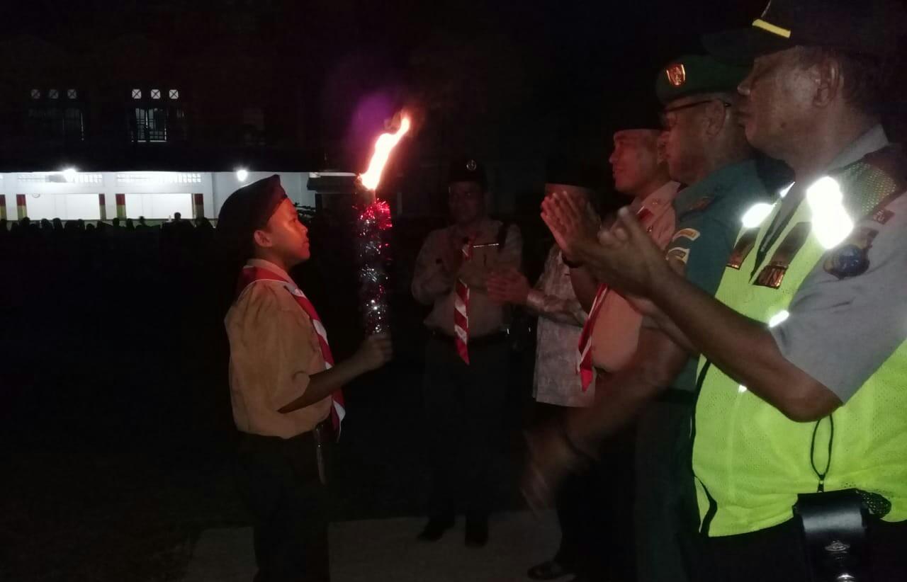Kegiatan berbagai lomba pada peringatan Hari Pramuka ke-58 yang jatuh pada Rabu 14 Agustus 2019, uang dilaksankaan Kwartir Ranting (Kwarran) Gerakan Pramuka Kecamatan.