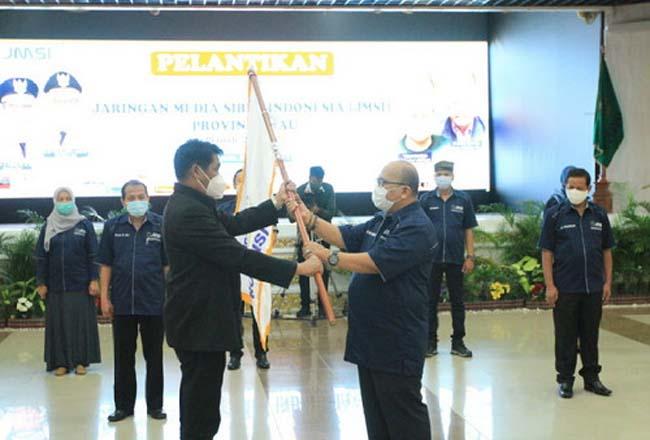 Pelantikan pengurus JMSI Riau. Foto: Matapers