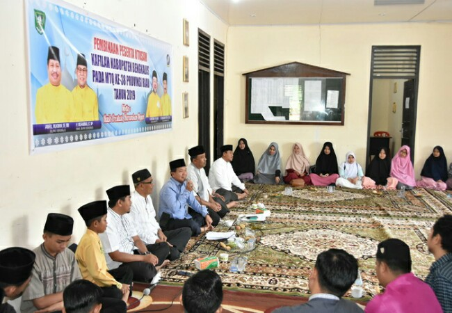 Pembinaan peserta MTQ Kabupaten Bengkalis tingkat Provinsi Riau.