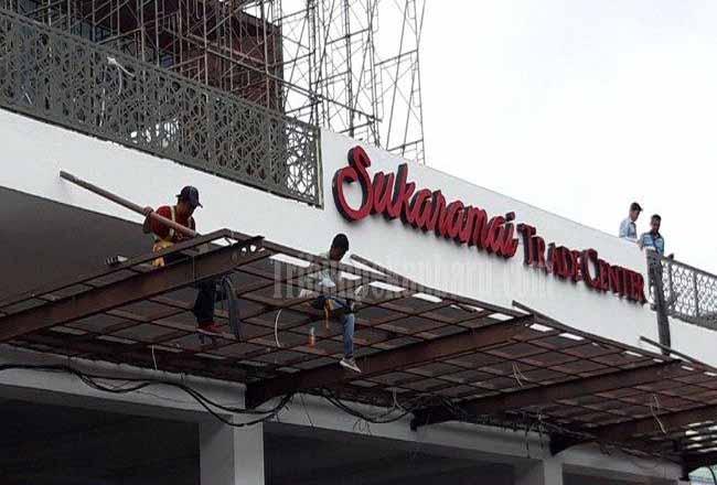 Sukaramai Trade Centre ditargetkan Maret rampung.